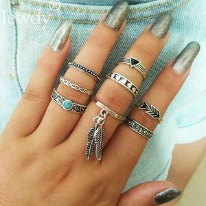 8 pieces ring set